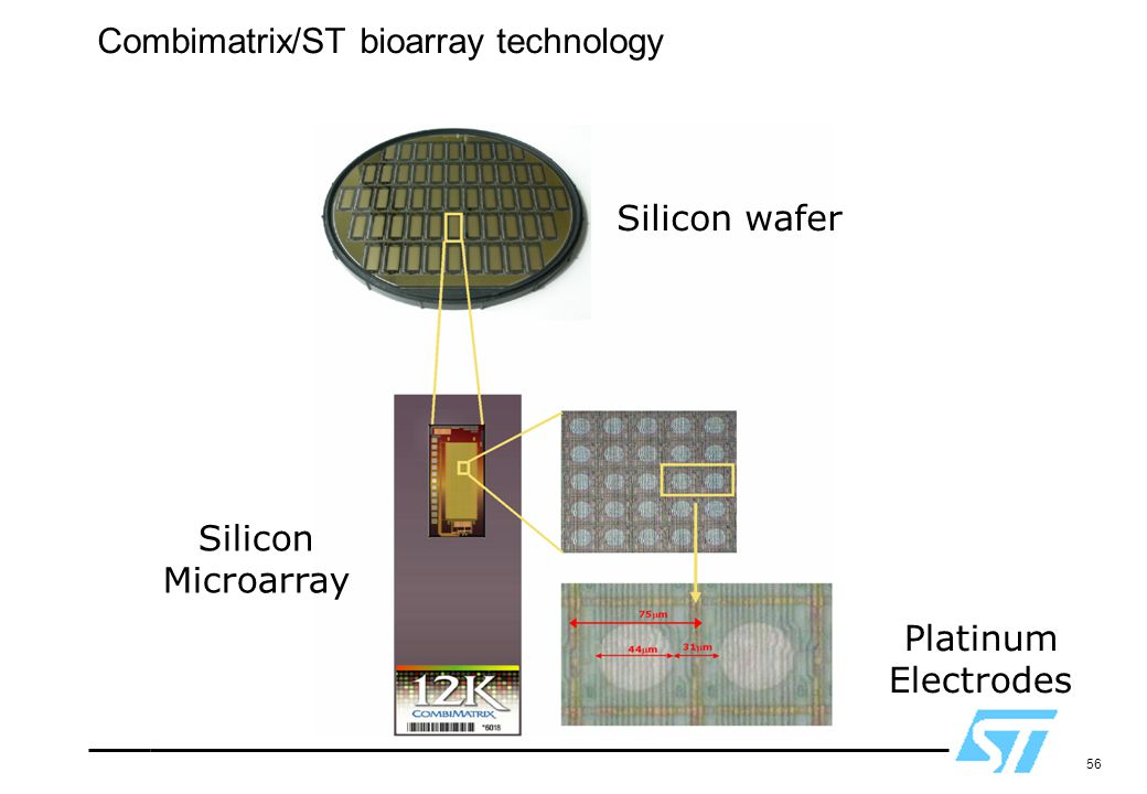 Combimatrix/ST bioarray technology