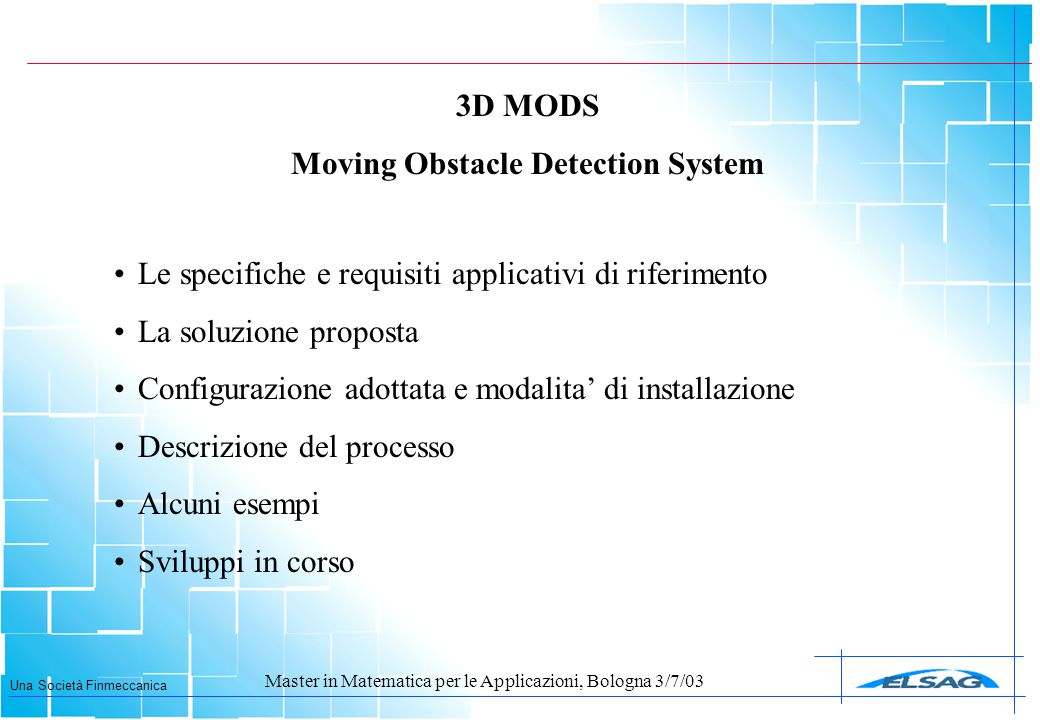 Moving Obstacle Detection System