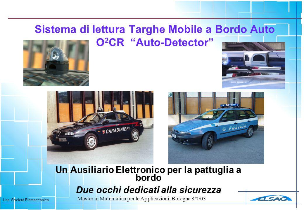 Sistema di lettura Targhe Mobile a Bordo Auto O2CR Auto-Detector