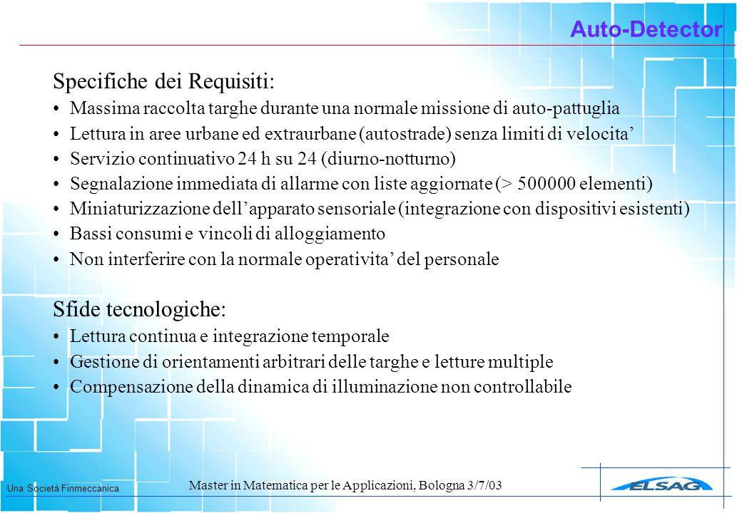 Specifiche dei Requisiti: