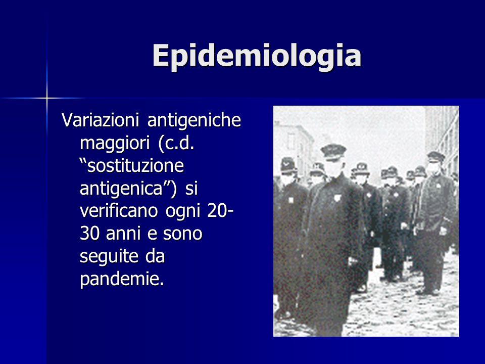 Epidemiologia Variazioni antigeniche maggiori (c.d.