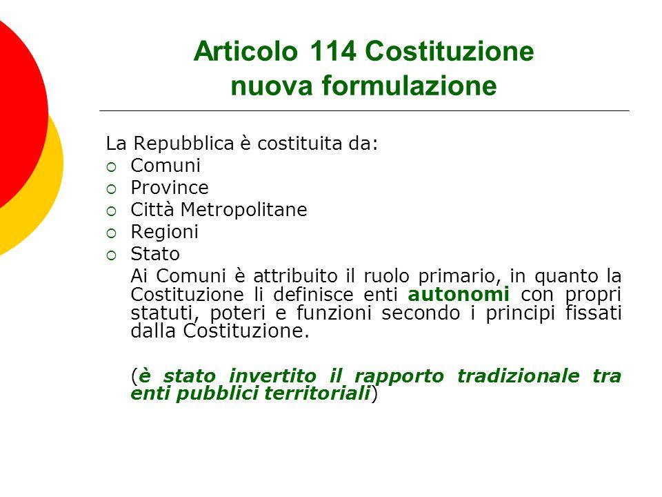 Articolo 114 Costituzione nuova formulazione