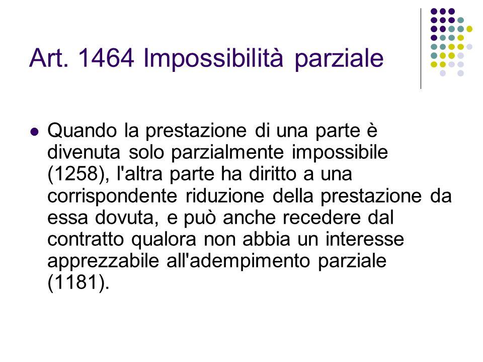 Art. 1464 Impossibilità parziale