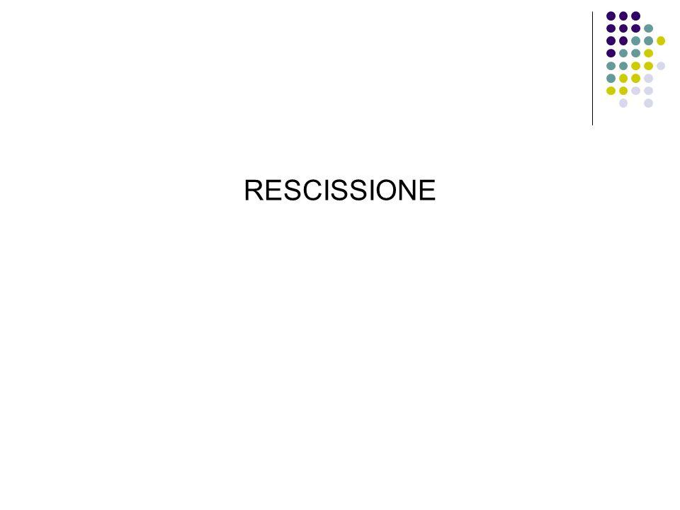 RESCISSIONE