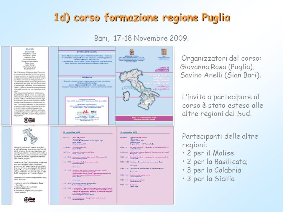 1d) corso formazione regione Puglia
