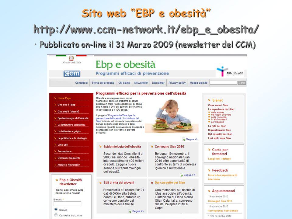 Sito web EBP e obesità
