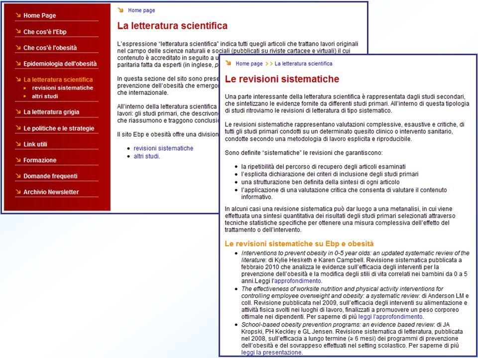 Maggior contenuto informativo delle revisioni sistematiche