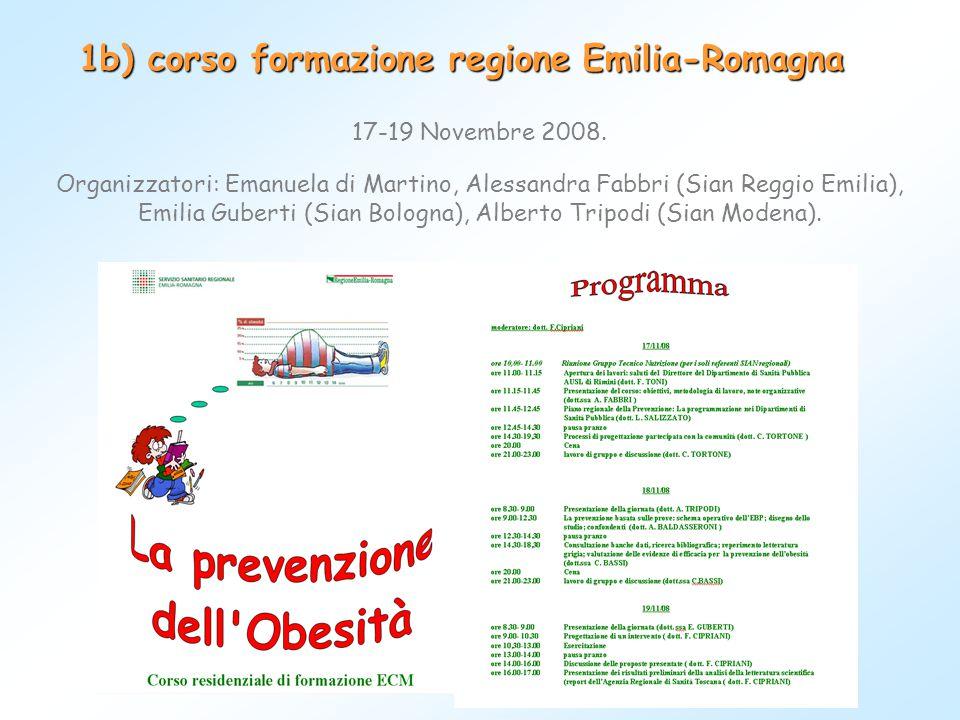 1b) corso formazione regione Emilia-Romagna
