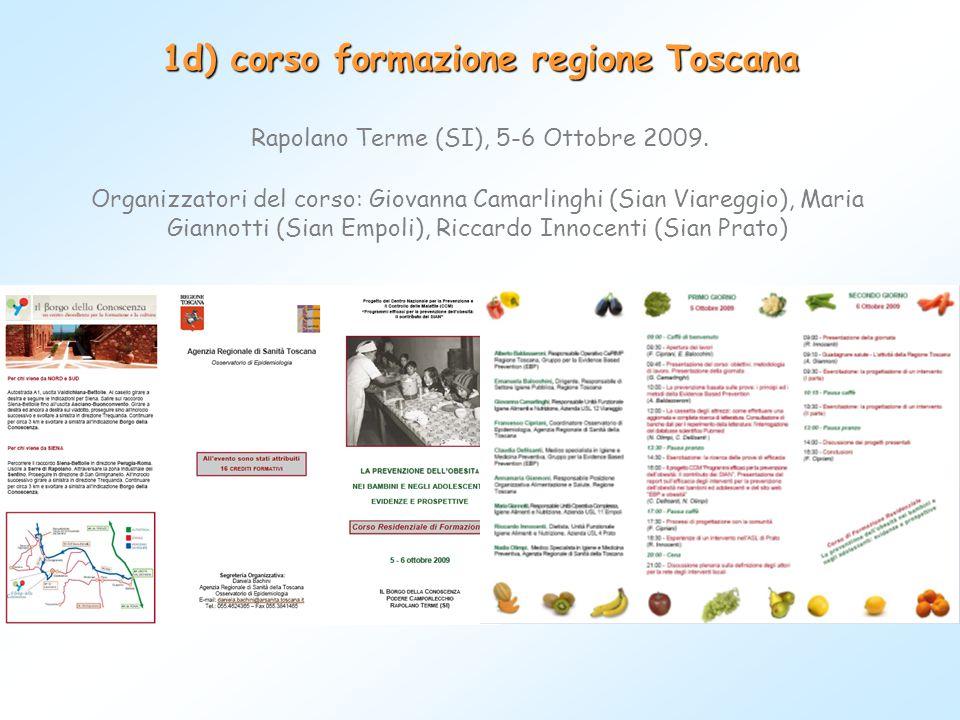 1d) corso formazione regione Toscana