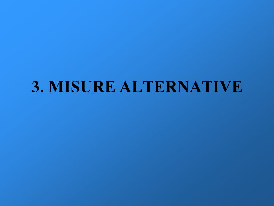 3. MISURE ALTERNATIVE
