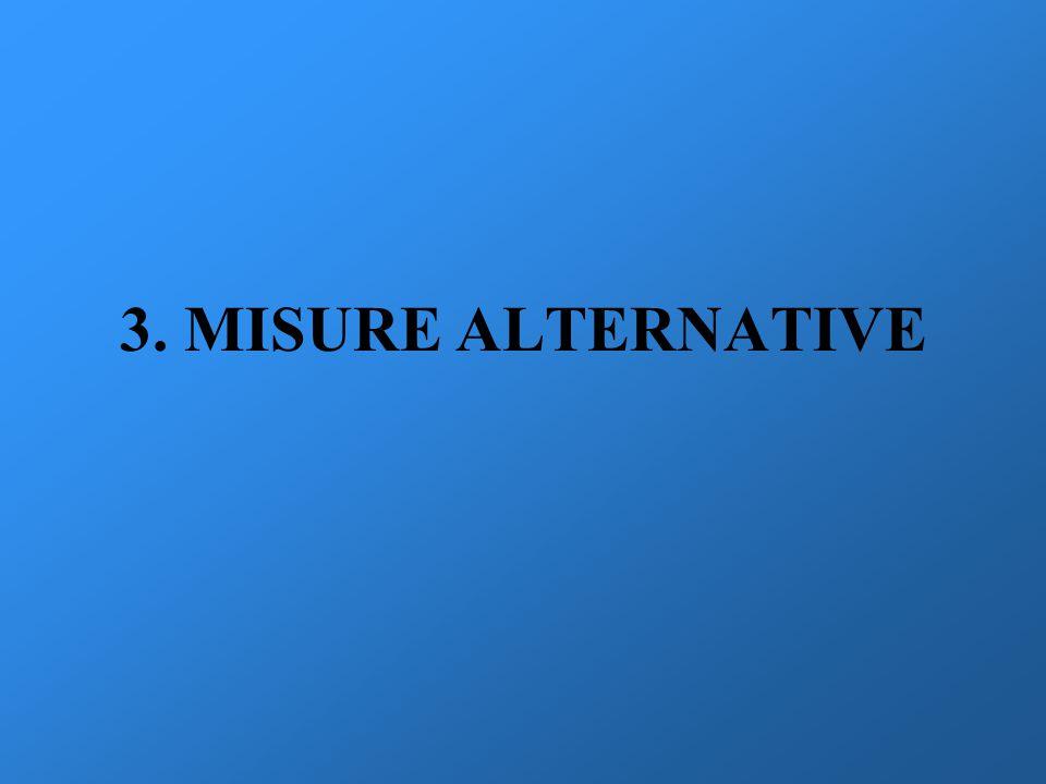 3. MISURE ALTERNATIVE