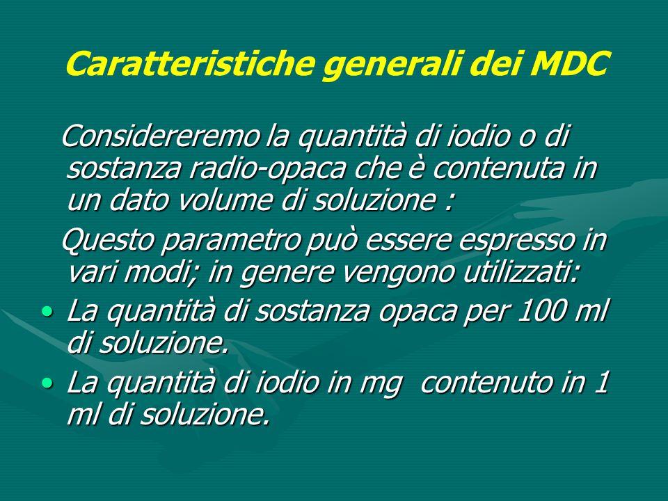 Caratteristiche generali dei MDC