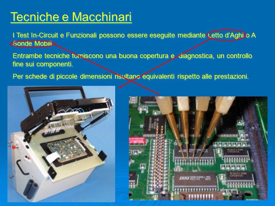 Tecniche e Macchinari I Test In-Circuit e Funzionali possono essere eseguite mediante Letto d'Aghi o A Sonde Mobili.