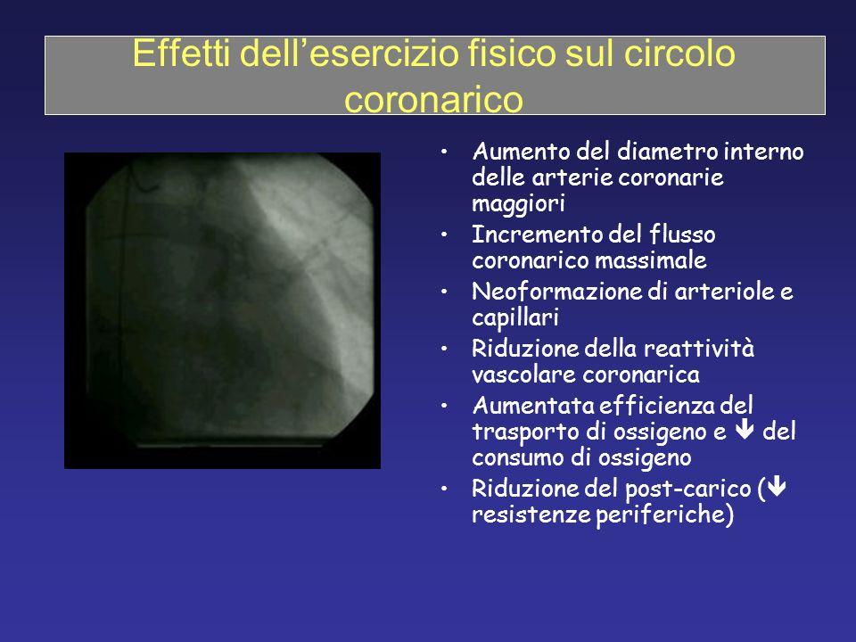 Effetti dell'esercizio fisico sul circolo coronarico