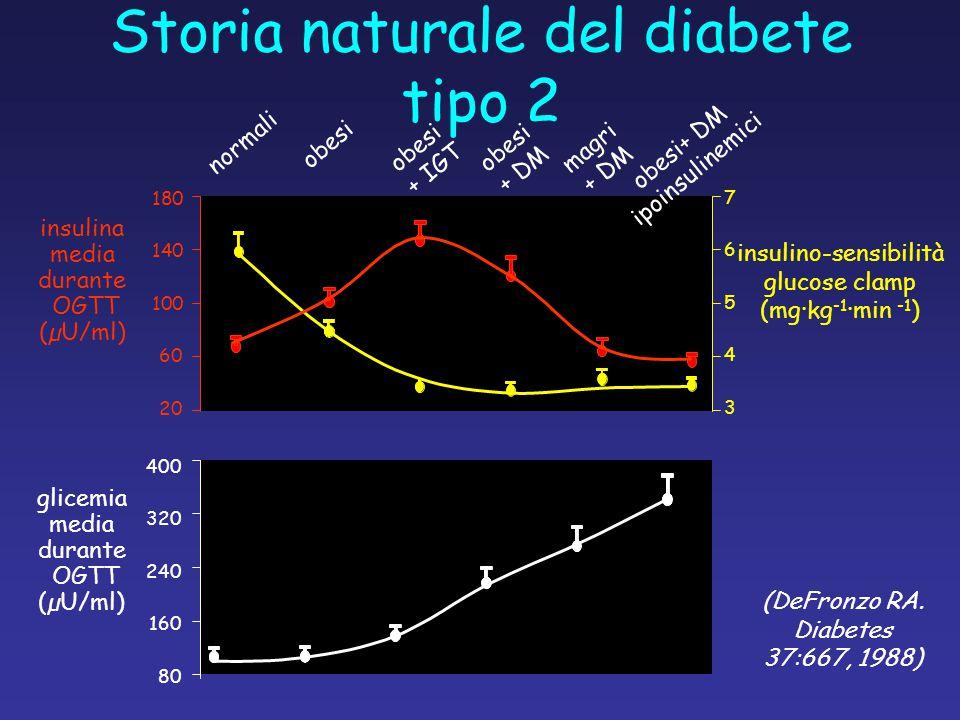 Storia naturale del diabete tipo 2