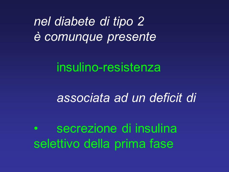 nel diabete di tipo 2 è comunque presente. insulino-resistenza