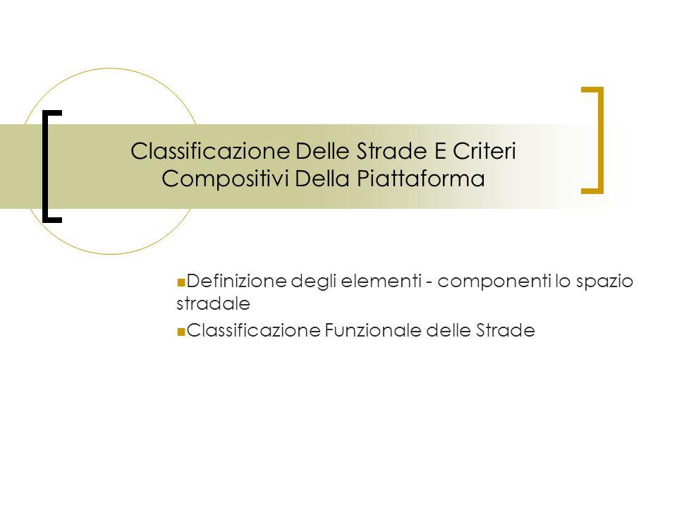 Classificazione Delle Strade E Criteri Compositivi Della Piattaforma