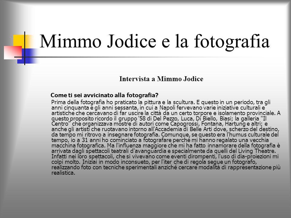 Mimmo Jodice e la fotografia