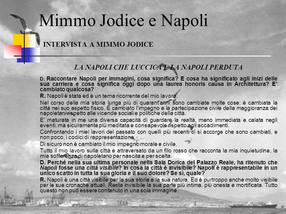Mimmo Jodice e Napoli INTERVISTA A MIMMO JODICE