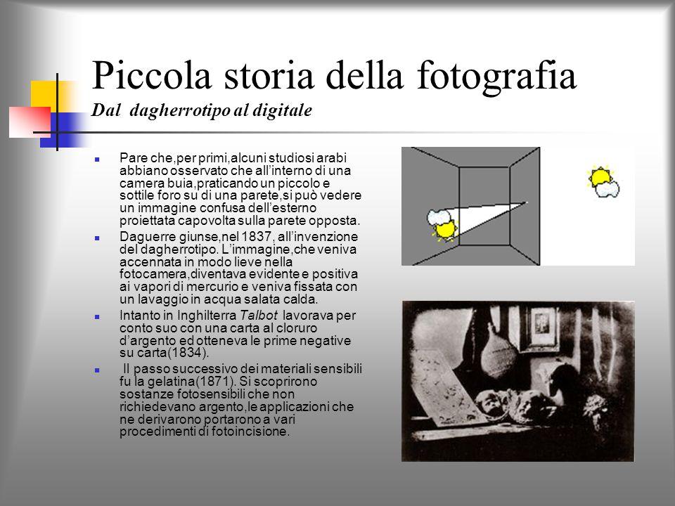 Piccola storia della fotografia Dal dagherrotipo al digitale