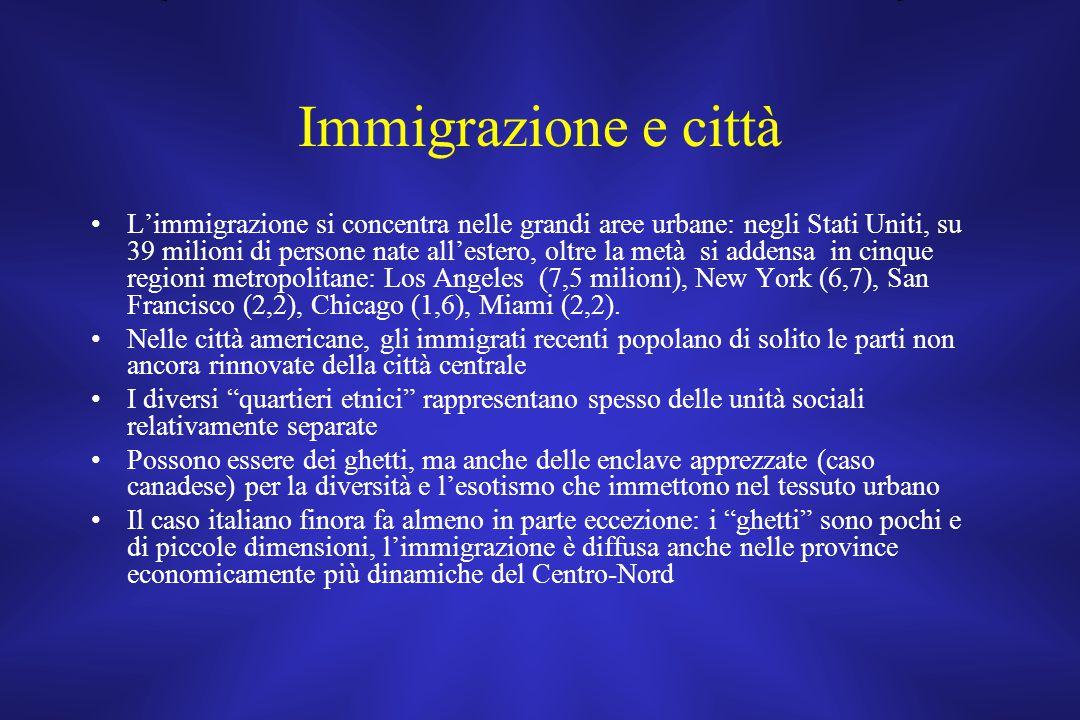 Immigrazione e città