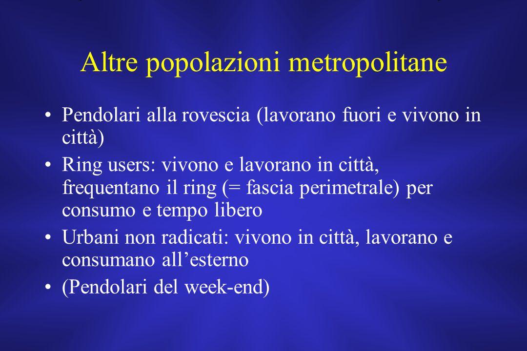 Altre popolazioni metropolitane