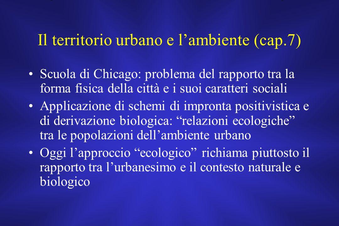 Il territorio urbano e l'ambiente (cap.7)