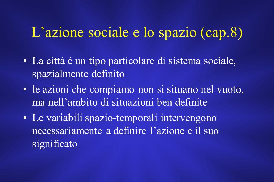 L'azione sociale e lo spazio (cap.8)