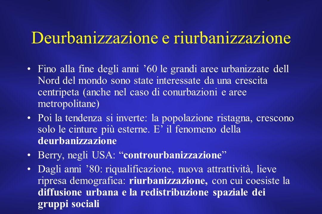 Deurbanizzazione e riurbanizzazione