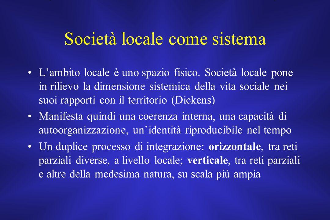 Società locale come sistema