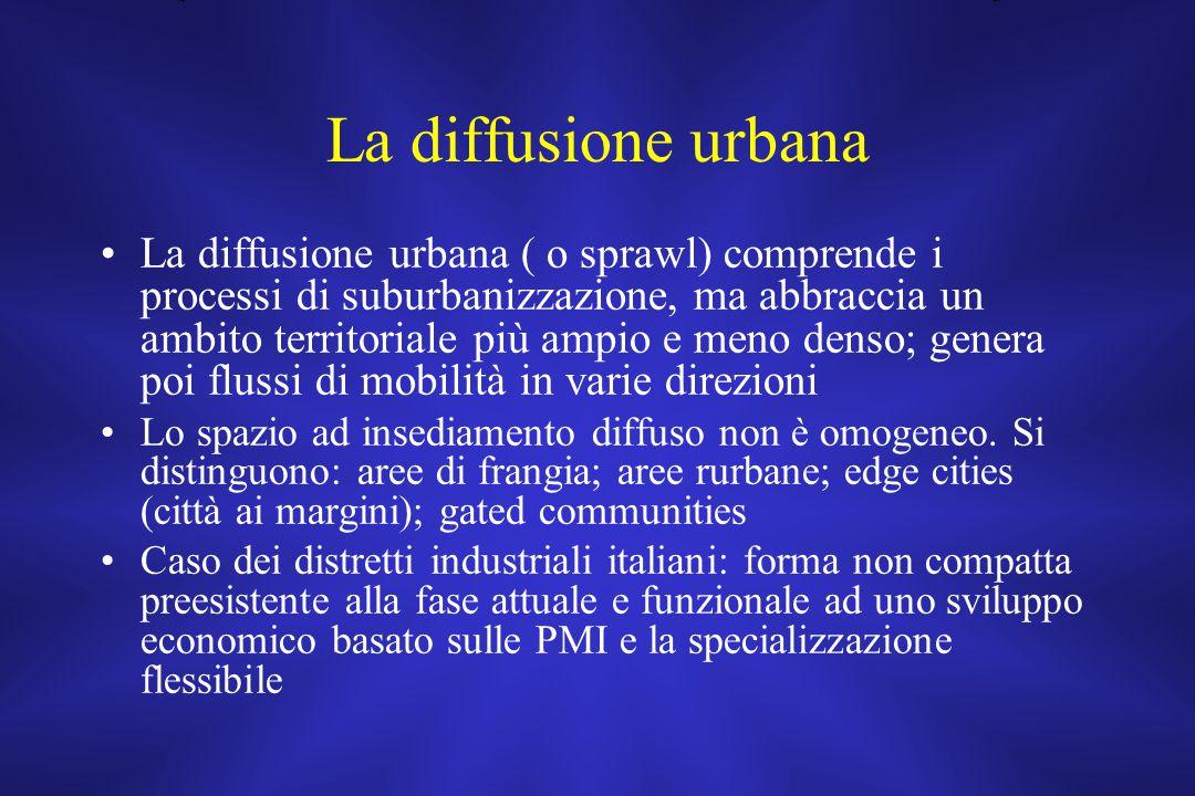 La diffusione urbana