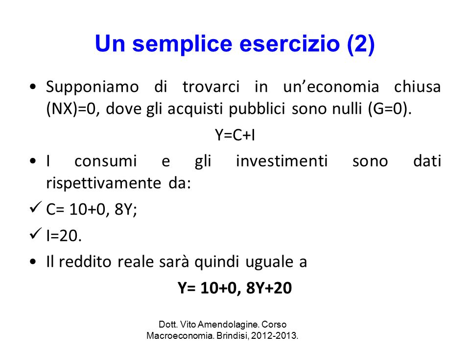 Un semplice esercizio (2)