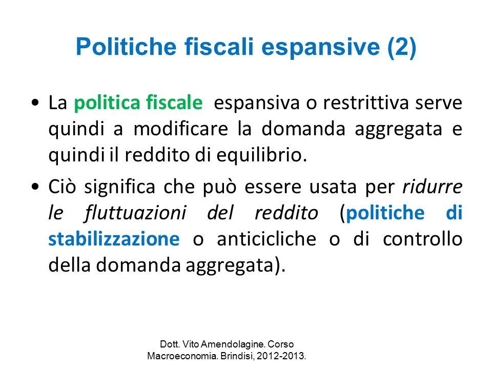 Politiche fiscali espansive (2)