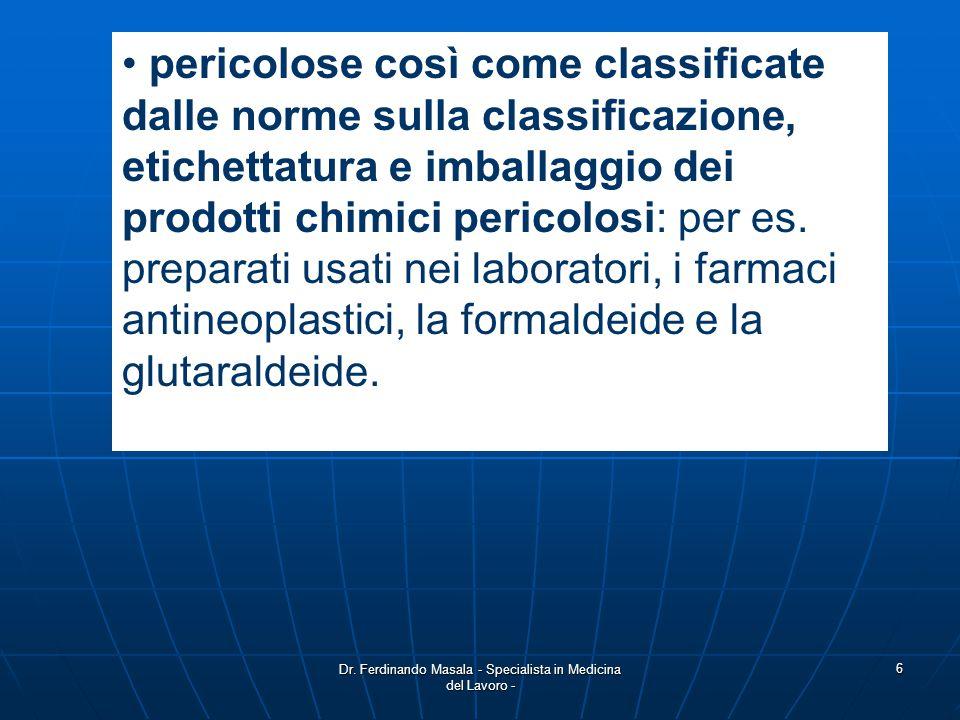 Dr. Ferdinando Masala - Specialista in Medicina del Lavoro -