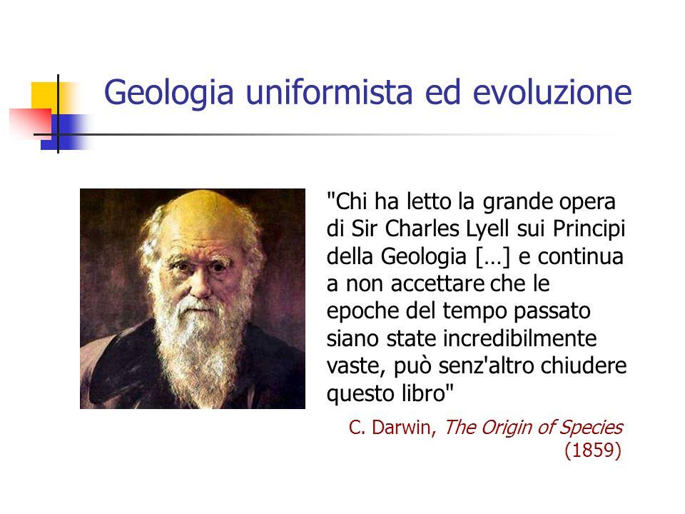 Geologia uniformista ed evoluzione