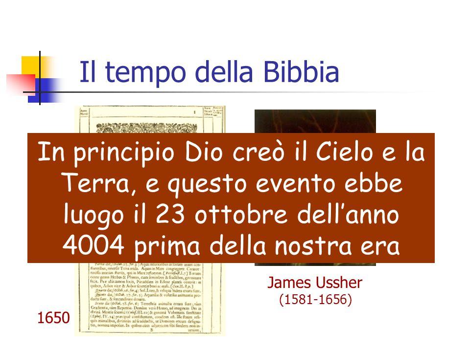 Il tempo della Bibbia In principio Dio creò il Cielo e la Terra, e questo evento ebbe luogo il 23 ottobre dell'anno 4004 prima della nostra era.