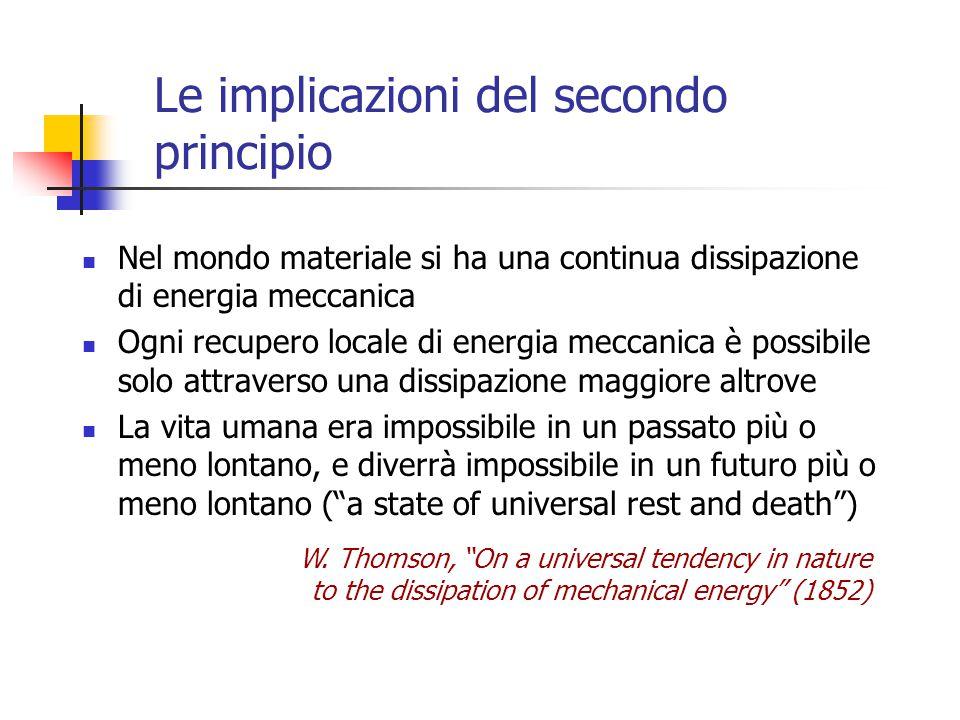 Le implicazioni del secondo principio