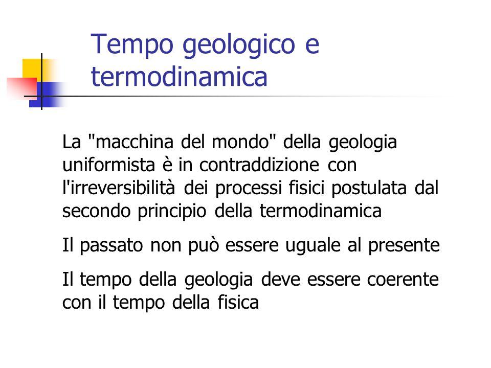 Tempo geologico e termodinamica