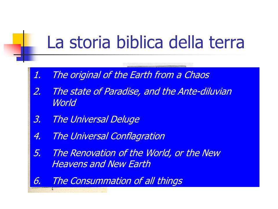La storia biblica della terra