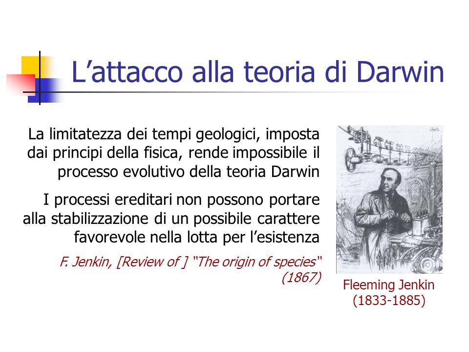 L'attacco alla teoria di Darwin