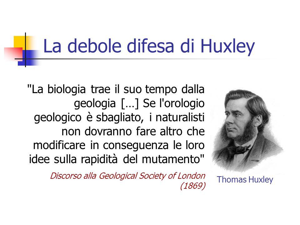 La debole difesa di Huxley