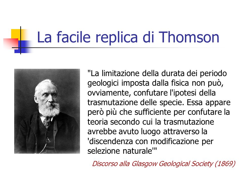 La facile replica di Thomson