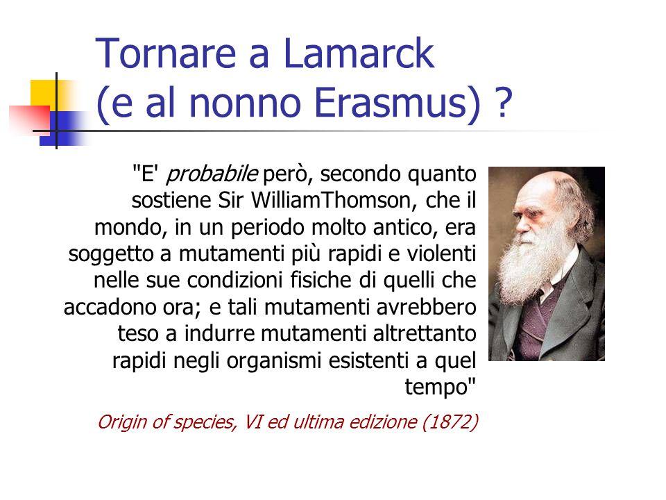 Tornare a Lamarck (e al nonno Erasmus)