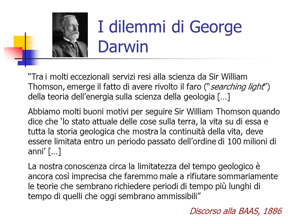 I dilemmi di George Darwin