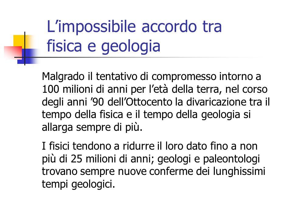 L'impossibile accordo tra fisica e geologia