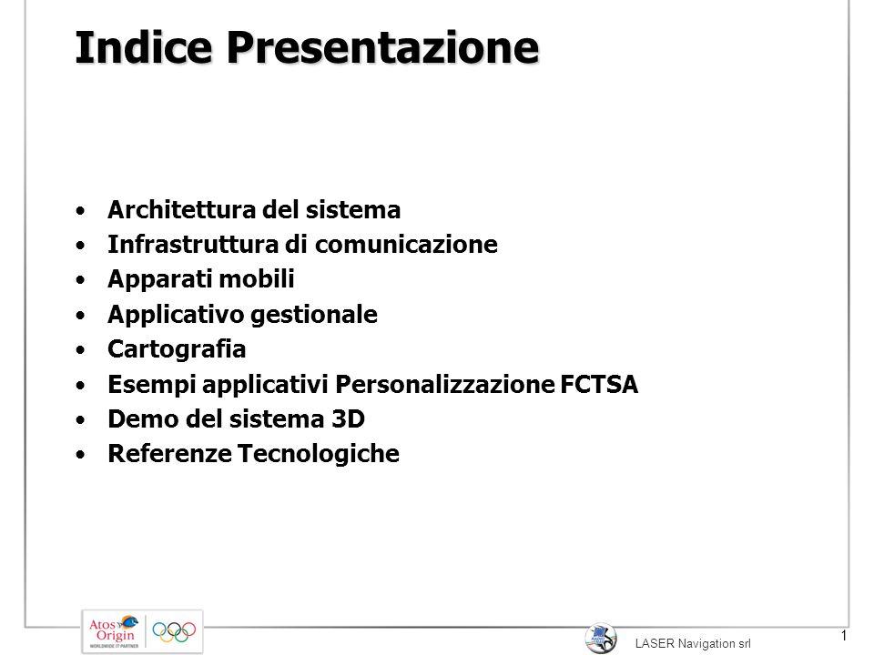 Indice Presentazione Architettura del sistema
