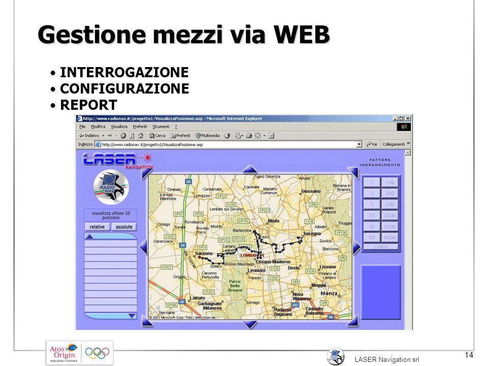 Gestione mezzi via WEB INTERROGAZIONE CONFIGURAZIONE REPORT