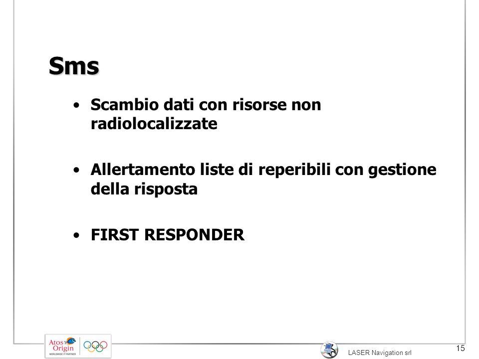 Sms Scambio dati con risorse non radiolocalizzate