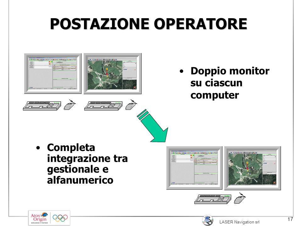 POSTAZIONE OPERATORE Doppio monitor su ciascun computer