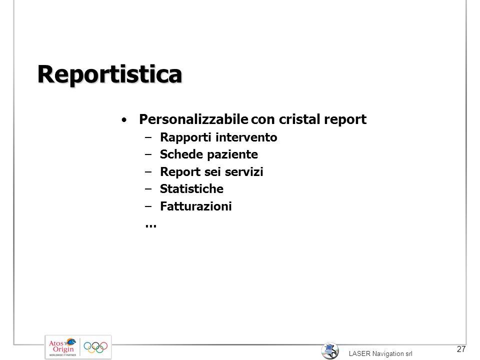 Reportistica Personalizzabile con cristal report Rapporti intervento